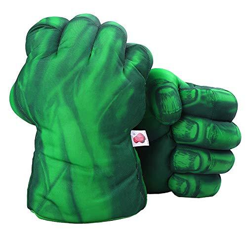 DDGOJUME Guanti Hulk Verdi, 1 Paio di Guantoni da Boxe Verdi Morbidi Costume di Peluche a Mano di Pugno per Bambini e Regali per Adulti (Verde)