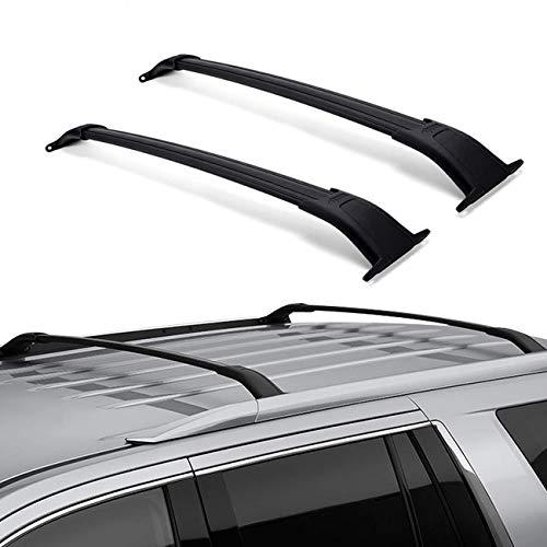 ROSY PIXEL Roof Rack Cross Bars for 2015-2020 GMC Yukon Chevrolet Tahoe Suburban Cadillac Escalade Escalade ESV (Black)