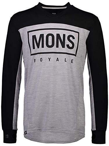 Mons Royale Maillot de VTT Manches Longues Redwood Enduro VLS Noir Gris Marl
