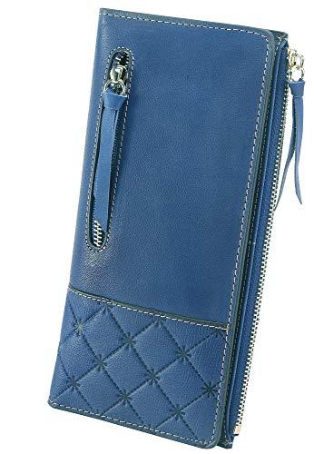 AINIMOER Luxury Large Women's Leather Long Zipper Wallet ladies Clutch Purse 1