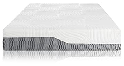 Voila Box Luxury Hybrid Coil-Spring Latex Mattress, Gel-infused Memory Foam + Coils + Latex + Triple Edge Support + Breathable Cool Sleep Technology, 100 Night Sleep Trial