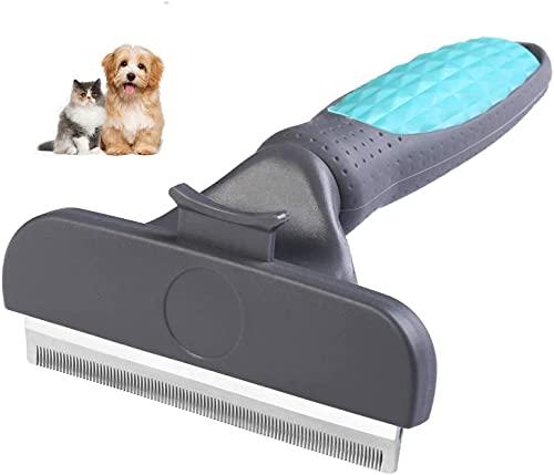 Cepillo para perros de pelo largo Cepillo para perros y cepillo para gatos Reduce eficazmente la caída del cabello Cepillo de aseo profesional y herramienta de limpieza para perros y gatos ...