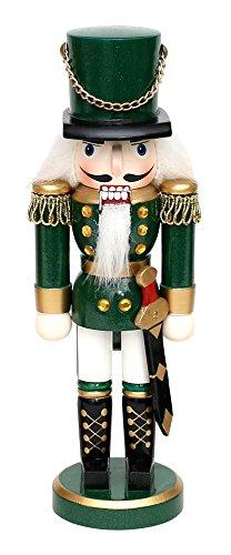 Dekohelden24 Wunderschöner Nussknacker Soldat, in grün, klassisch, ca. 35 cm