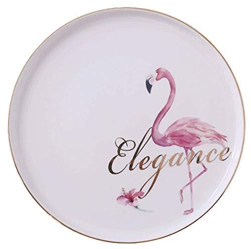 AWJ Flamingo Vajilla cerámica Western Steak Meal Nordic Breakfast Plate