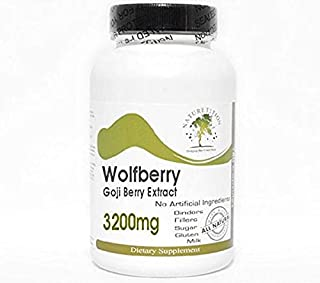 Goji Berry Extract Wolfberry 3200mg ~ 240 Capsules - No Additives ~ Naturetition Supplements