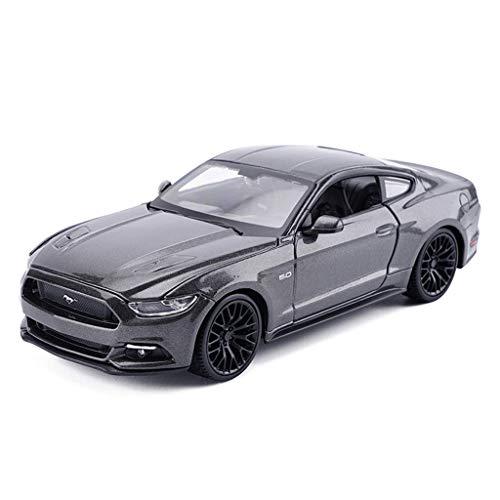 YNHNI Modelos de aleación de coches 1:24 Ford Mustang GT estilo original fundido a presión coleccionistas modelo de decoración del coche manualidades (color: gris)