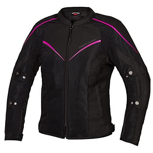 REBELHORN Hiflow IV Lady Chaqueta de moto para mujer Protectores de hombros y...