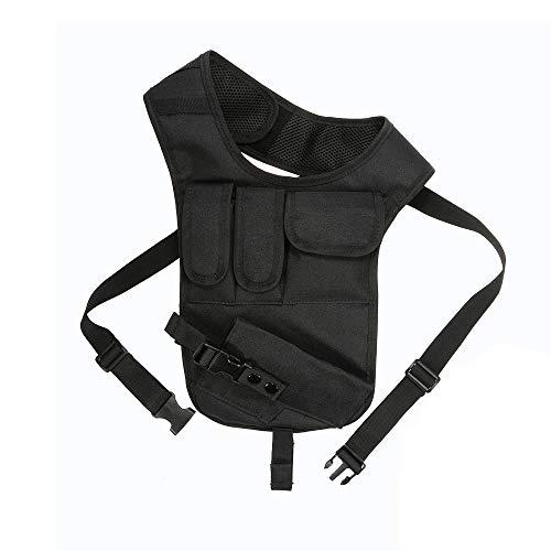 Maluokasa Tactical Pistol Holster, Achsel Pistol Holster Verdeckte Tactical Storage Gun Bag 600D Nylon Verstellbarer Gurt für die Jagd im Freien