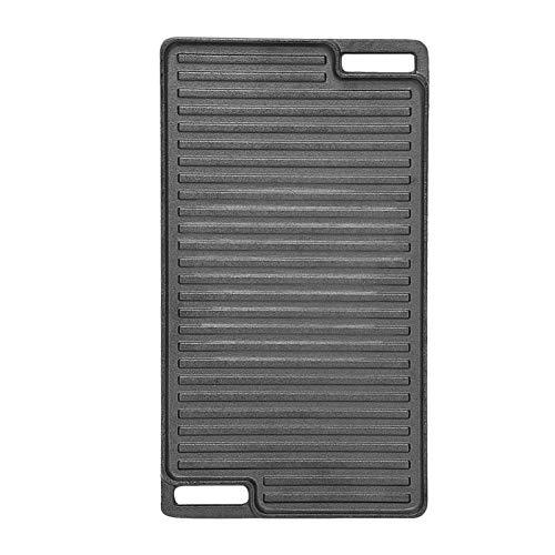 MorNon Black Cast Iron Double-Sided Barbecue Tray Corrosion Resistance Non-Stick Pre-Seasoned Grill Plate Tray For BBQ…