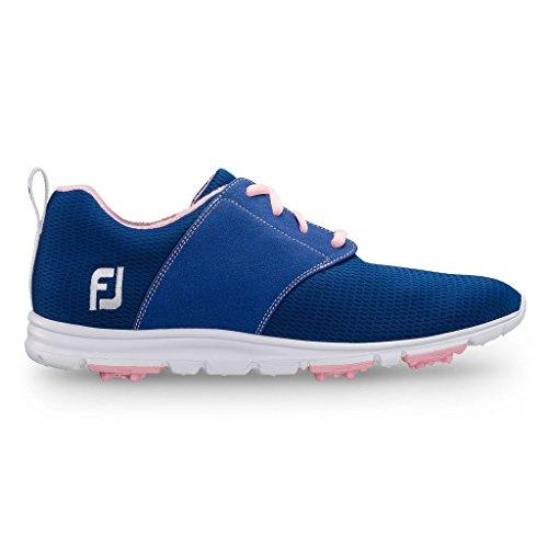 FJ Enjoy Damen Golfschuhe - Spikeless & Ultrabequem (41, Blue/Pink)