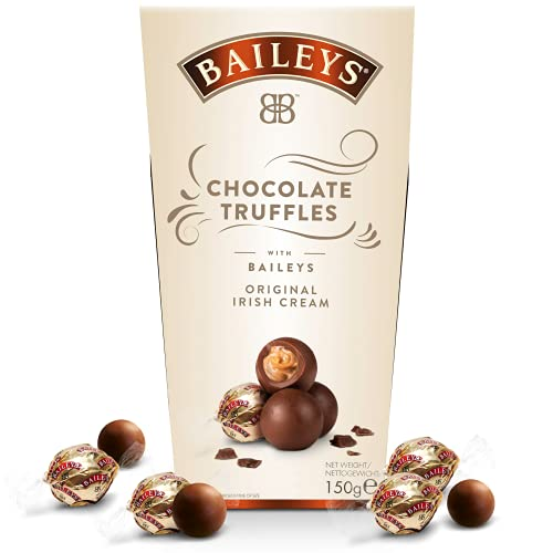 Baileys Chocolate Truffles   einzeln verpackte Pralinen   Pralinen Geschenk   gefüllt mit Likör   1 x 150g