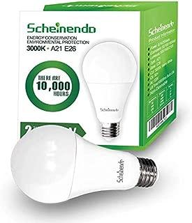 3-Way Led Light Bulbs 50/100/150 Watt Equivalent,3000K Warm White,A21 LED Bulbs 2100LM,E26 Base-2 Packs by Scheinenda