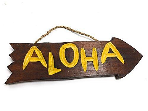 Norma Lily Aloha Treibholz Schild 30,5cm–Pool Decor