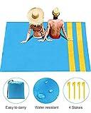 GIARIDE Manta de playa a prueba de arena 305x275cm Extra grande, manta de picnic de bolsillo suave, estera familiar al aire libre impermeable y a prueba de arena para playa, camping, senderismo