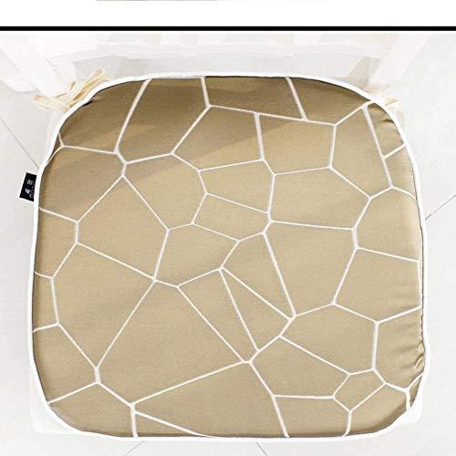 Mirui Raya Silla cojín con Las Corbatas no Antideslizante Lavable Pad Chair futón Pad Chair Yoga Meditación Inicio Cojines (Color : I, Size : 45x48cm(18x19inch))