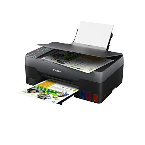 Canon PIXMA G3520 Drucker MegaTank Multifunktionsgerät nachfüllbar DIN A4 (Scanner, Kopierer, Fotodrucker, Farbtintenstrahldrucker, USB, WLAN, Print App, Cloud, LC Display, Duplexdruck), schwarz