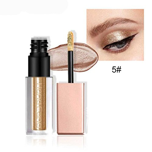 Allbesta Glitzer Flüssig Lidschatten Make-up Stift Pearlescent Silky Naked Smoky Eyeshadow Wasserfest