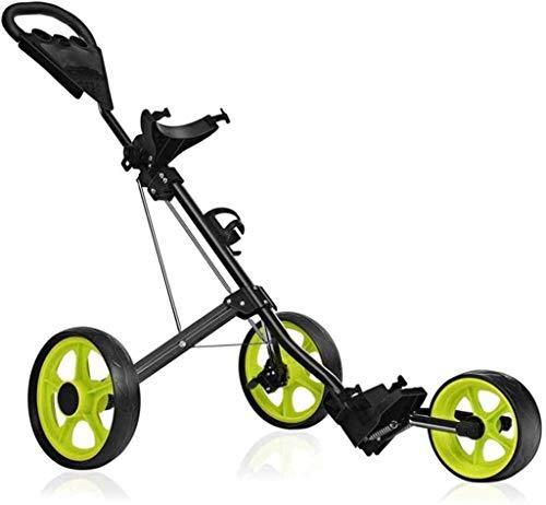 FEFCK Golf Trolley 3-Rad Klapp Golf Push Cart Aluminiumlegierung Trolley Mit Bremse Multifunktionale Anzeigetafel, Ideal Golf Geschenk