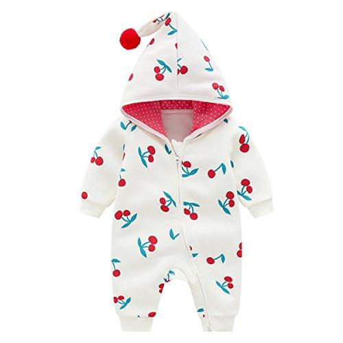 Bebone Baby Mädchen Strampler Herbst Winter Babybekleidung (Weiß, 9-12 Monate/73)