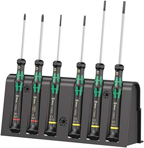 Wera Elektroniker-Schraubendrehersatz 2035/6 A + Rack, 6-teilig, 05118150001