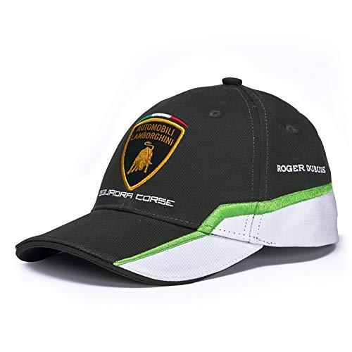 Lamborghini Squadra Corse Kinder Baseballkappe GT3 Team Racing, Schwarz