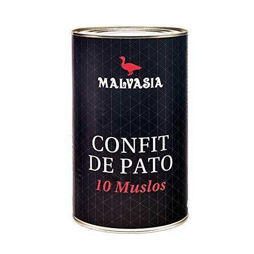 Confit de Pato | Muslos de Pato Confitados Malvasía| Lata Circular 10 unidades