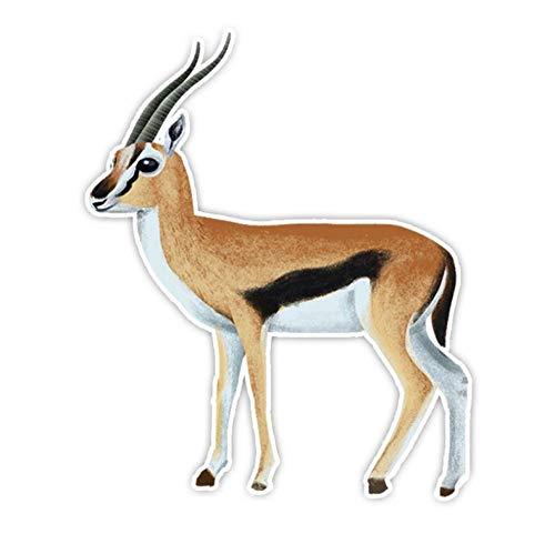 Kllomm 2 Stück 14CM * 11.5CM Tierschutz Antilope PVC Auto Aufkleber Aufkleber Fenster Dekoration Geschenk Aufkleber Aufkleber schützen