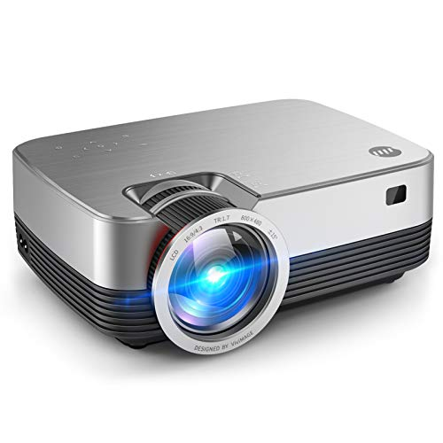 VIVIMAGE C480 Mini Projector, Portable 1080P Supported and 170'' Display Portable Video Projector with 40,000 Hrs LED Lamp Life, Compatible with TV Stick, PS4, HDMI, VGA, TF, AV and USB