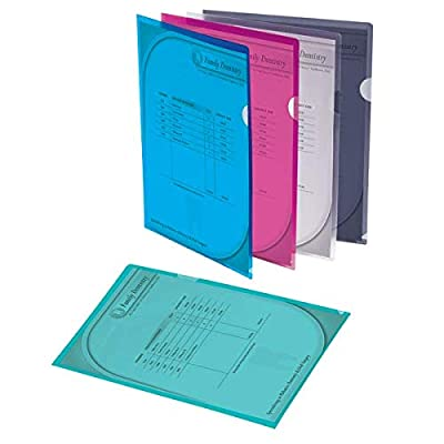 Office Depot Poly Project View Folders, Letter Size, Assorted Colors, Pack Of 10, 741361
