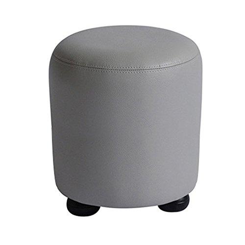 FEIFEI Tabouret en bois massif PU + Tabouret à la maison de mode moderne tabouret à la maison (30 * 35CM (largeur, hauteur)) (Couleur : Gris)