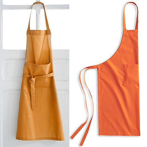 Today Tablier Coton Mandarine Coton Orange 79 x 104 cm