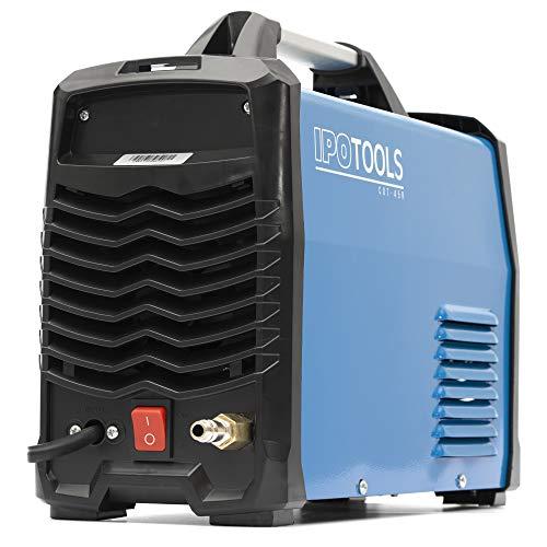 IPOTOOLS Plasmaschneider CUT-45R – Plasmaschneidgerät 45A bis 12 mm Schneidleistung Inverter Schweißgerät Plasma Cutter mit IGBT/HF Zündung/Blau / 230V - 7