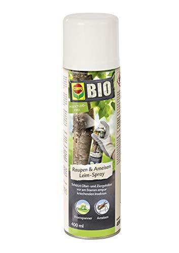 COMPO BIO Raupen & Ameisen Leim-Spray, Schutz von Obst- und Zierghölzen, 400 ml