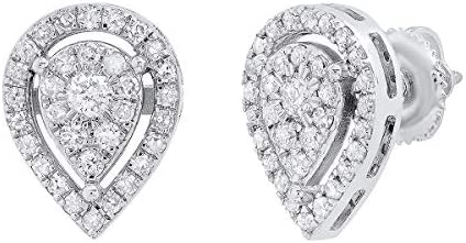 Dazzlingrock Collection 0 65 Carat cttw Round Lab Grown White Diamond Ladies Pear Shaped Teardrop product image