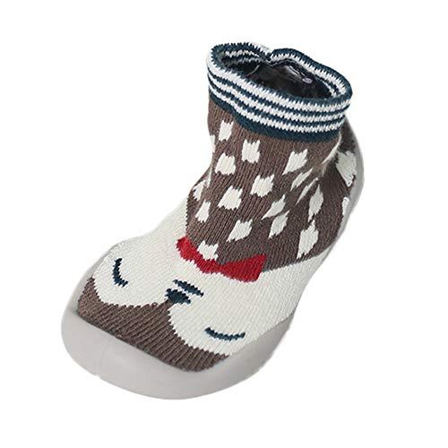 Calcetines Zapatos Bebé, LANSKIRT Calcetines Primeros Pasos Bebé Suave Suela de Goma Antideslizante Botines Piso de Goma Zapatos