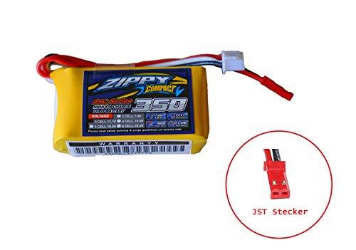 Zippy Compact 350mAh 3S 25-35C 11,1V Lipo Akku Pack 350mAh NUR 49g ideal für Indoor, Parkflyer, Shockflyer, Helikopter, Drohnen uvm. Modellbau Eibl