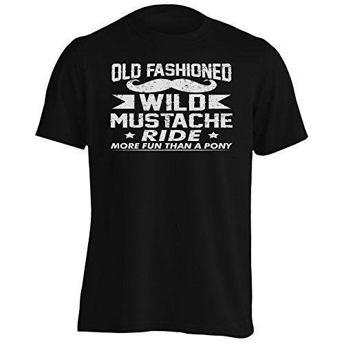 INNOGLEN Pony di Cavalcata Old Moustache Uomo T-Shirt v861m