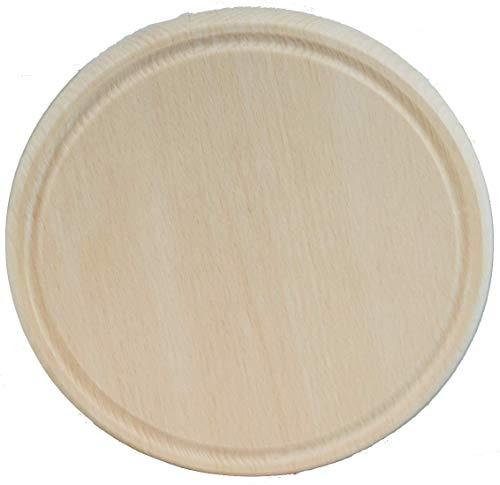LoranShop Tagliere Rotondo in Legno di Faggio Diametro 20 cm. Utilizzabile Come Vassoio in Legno, sottopiatto o sottopentola. Robusto e Resistente.