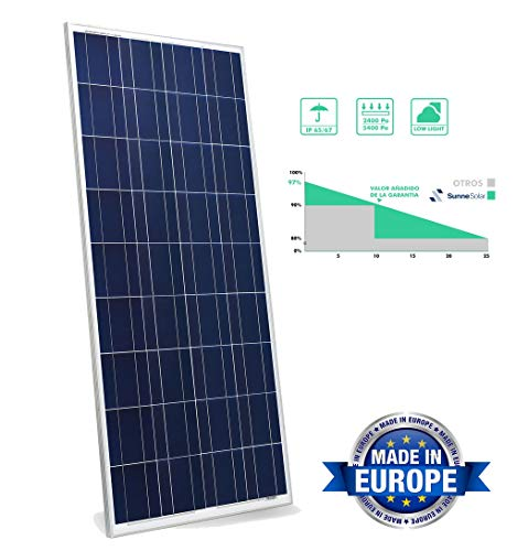 Polykristallines Solarpanel mit 72 Zellen, 330 W, 24 V, ideal für den gewöhnlichen Einbau von Chalets und Installationen in Landhäusern. In Europa hergestellt