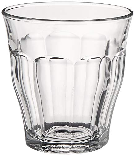 Duralex 1025AB06A2111 Picardie Six Trinkglas, Wasserglas, Saftglas, 160ml, Glas, transparent, 6 Stück