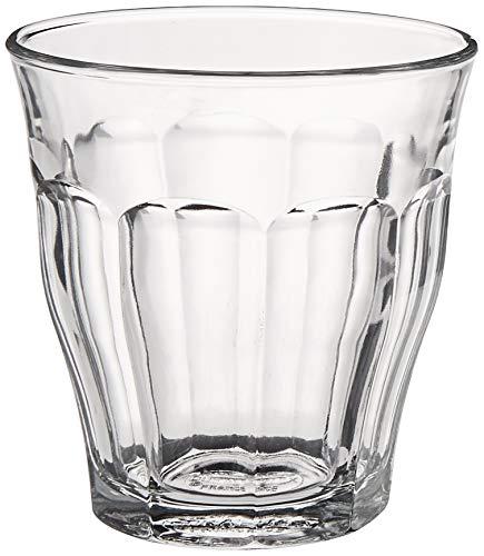 Duralex 511980 Picardie Trinkglas, Wasserglas, Saftglas, 160ml, Glas, transparent, 6 Stück