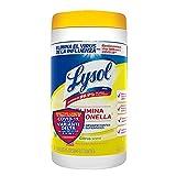 Lysol Toallitas Desinfectantes para Superficies Citrus, 80 Toallitas (Tapa puede variar)