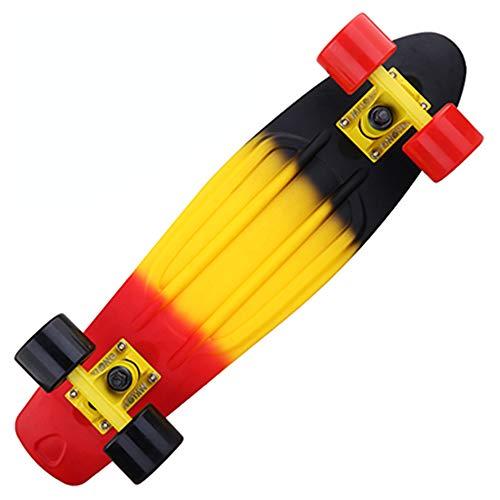 Colorido Arco Iris Patineta Completa Retro Niña Niño Crucero Mini Longboard Completo Skate Tabla Larga De Pescado Skate De La Rueda,Multicolor c