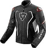 REV'IT! Motorradschutzjacke, Motorradjacke Vertex H2O Textiljacke schwarz/weiß/rot L, Herren,...