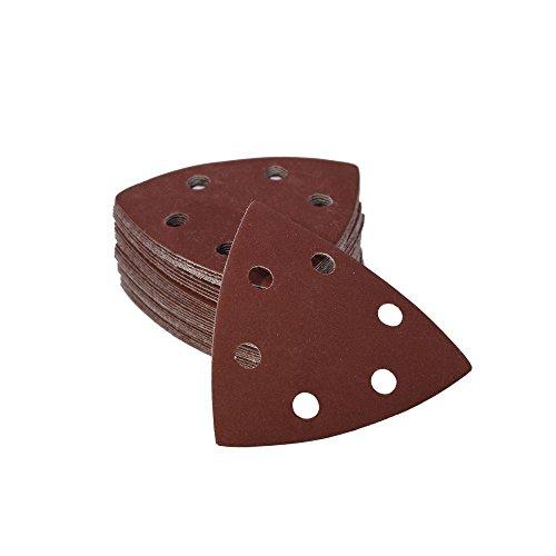 Woltersberger® 25 Stück Schleifdreiecke 93 x 93 x 93 mm | Körnung P800 | für Deltaschleifer, vielseitig einsetzbar | Klett Schleifpapier Haft