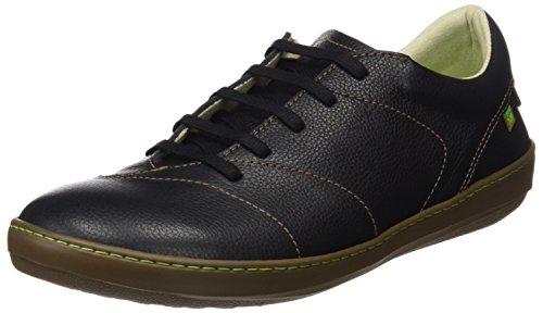 El Naturalista S.A N211 Soft Grain Meteo Zapatos de cordones derby, Hombre, Negro (Black), 42 EU (8 UK)