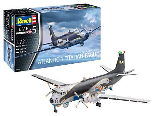Revell-Revell-03845 Breguet Atlantic 1' Italian Eagle Modelo, Escala 1:72 Kit per Modelli, Colore Non Laccato, 03845