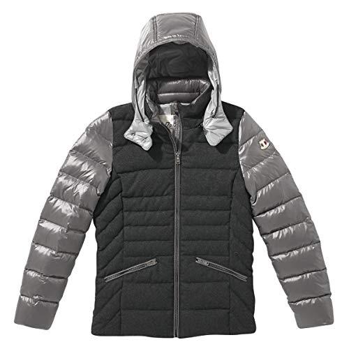 Dolomite Dobbiaco Woman Jacket Colorblock-Grau, Damen Daunen Freizeitjacke, Größe M - Farbe Grey Melange - Smog Grey