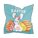 Feliz Pascua huevo conejito conejo mujeres bufanda pañuelo pañuelo pañuelo cuello cuadrado moda señoras pelo cabeza adolescente chica