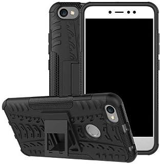 Okteq Tyre Pattern Kickstand PC TPU Hybrid Case for Xiaomi Redmi Y1 - Black
